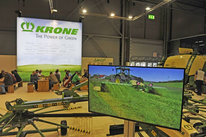 TECHARGO Messestand Krone