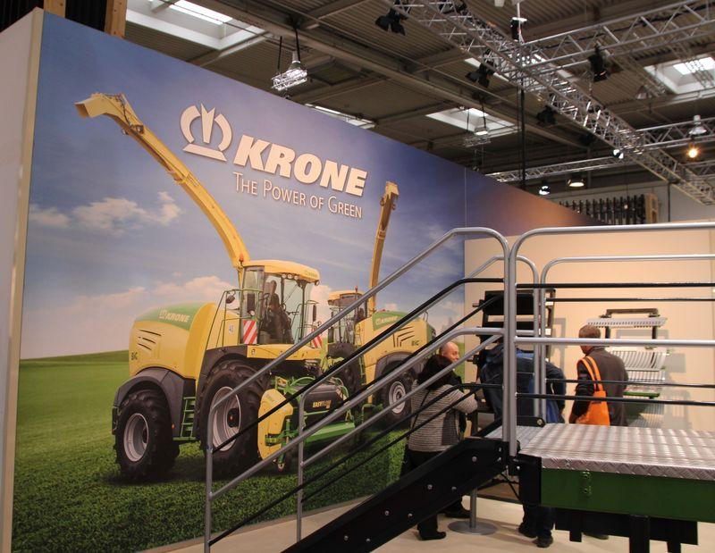 Wandbausystem auf Messestand von KRONE Landmaschinen