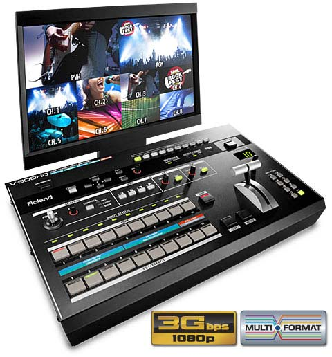 Roland V-800HD video mixer desk