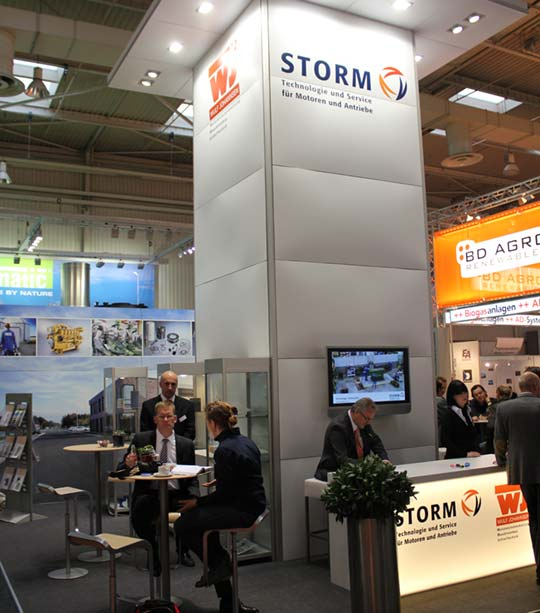 A3 wall construction system for trade fairs