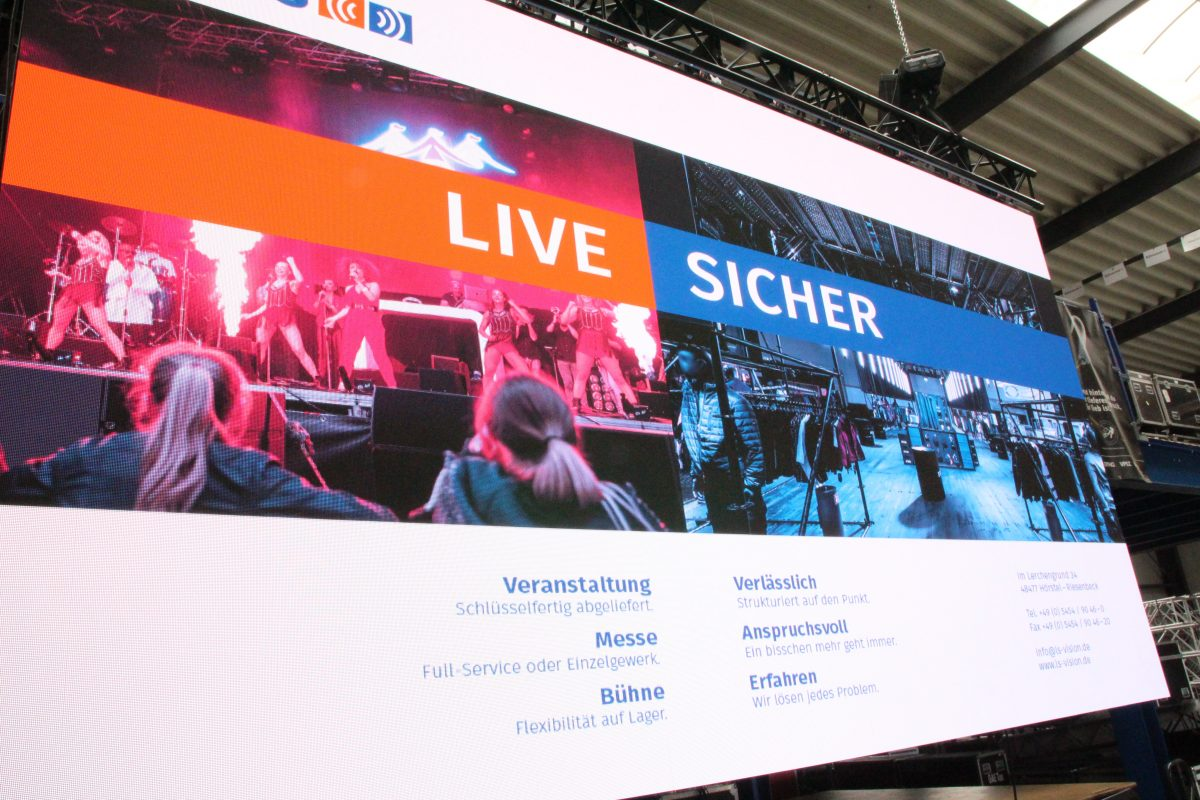 Jetzt neu: VENTURE 3 LED-Videobildwand!